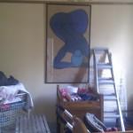 Before we took the paintings down
